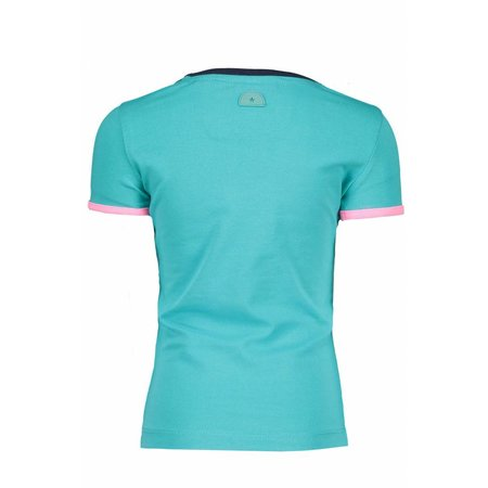 B.Nosy B.Nosy T-shirt lasshes embroidery hot turquoise