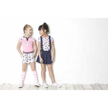 B.Nosy B.Nosy T-shirt raglan stripe with star sleeves bubblegum
