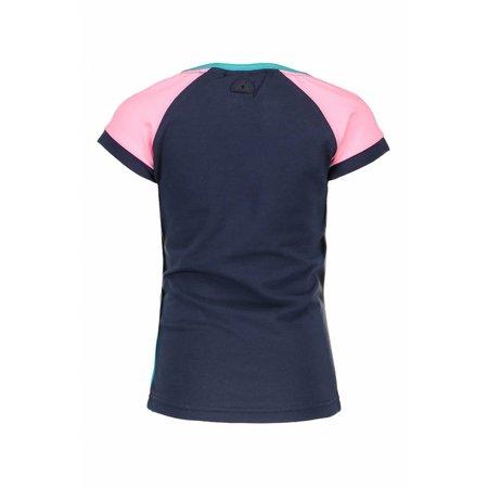 B.Nosy B.Nosy T-shirt raglan stripe with star sleeves midnight blue