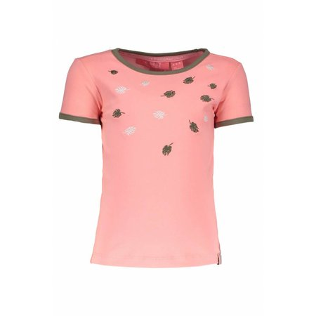 B.Nosy B.Nosy T-shirt embroidery bright salmon