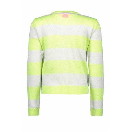 B.Nosy B.Nosy vest knitted stripe electric yellow