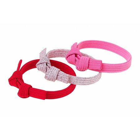 Souza Souza haar elastiek Manon, metallic roze- rood (3 stuks)