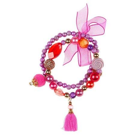 Souza Souza armband Lexi, paars-rood