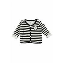 Vestje reversibel y/d stripe + allover print black/white