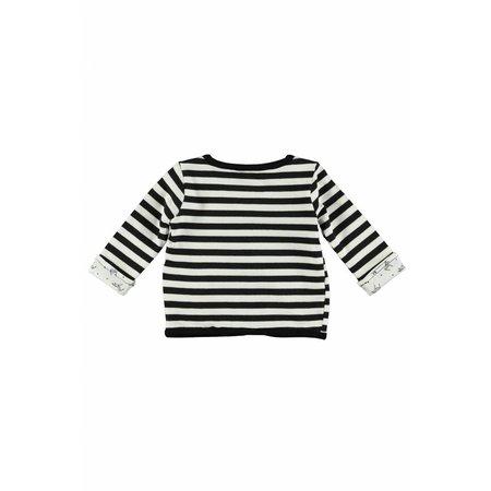 Bampidano Bampidano vestje reversibel y/d stripe + allover print black/white
