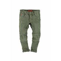 Spijkerbroek fancy stretch twill kneepatches army