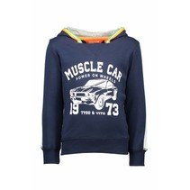 Trui muscle car navy
