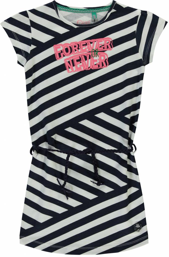 Quapi Quapi jurkje Stella navy crazy stripe