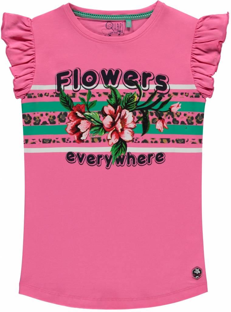 Quapi Quapi T-shirt Stephanie bright pink