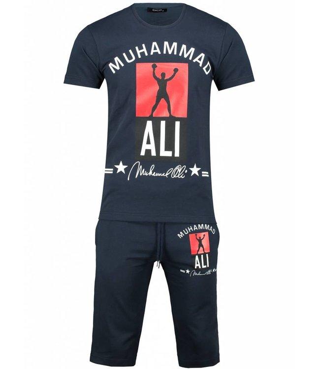 Oxcid Heren Setje Muhammed Ali - Donkerblauw