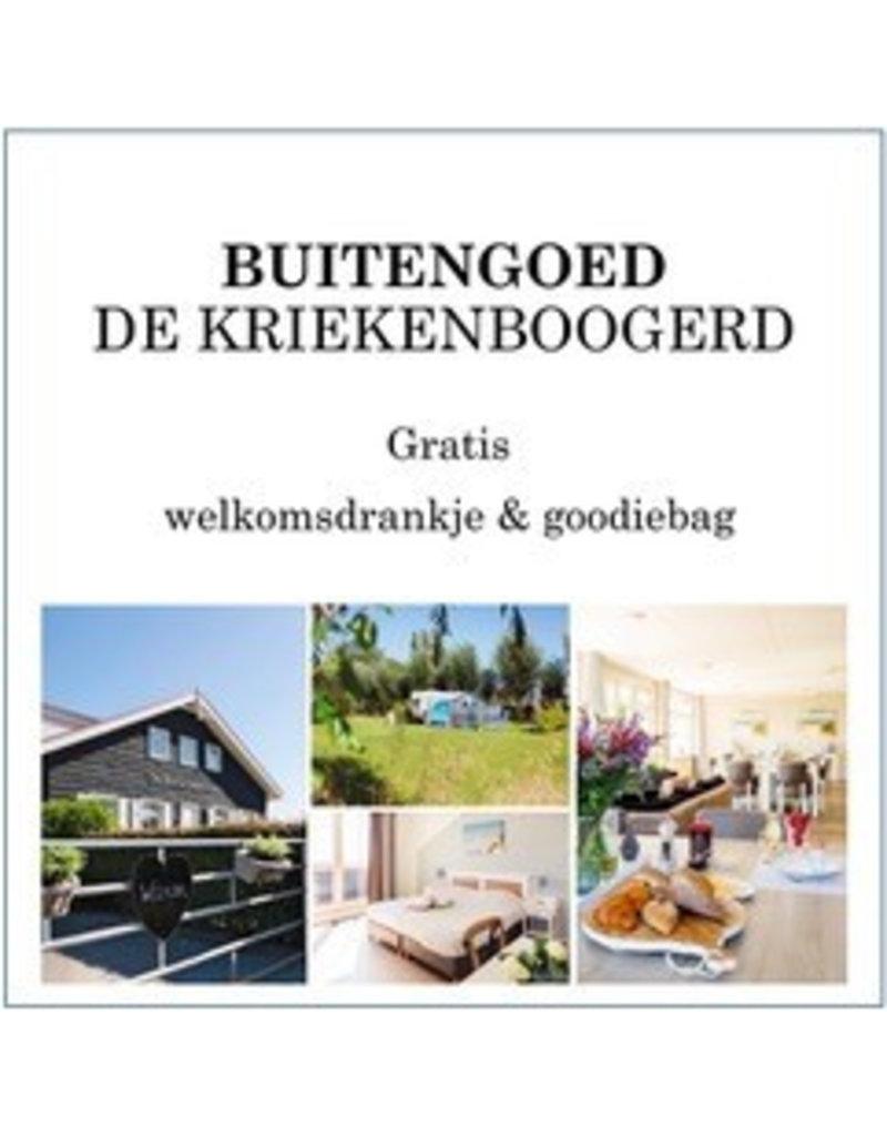 1x gratis welkomst- drankje en goodiebag bij De Kriekenboogerd in Oud-Beijerland