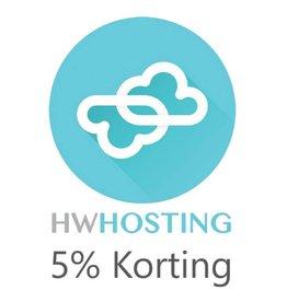 Onbeperkt 5% korting op hosting