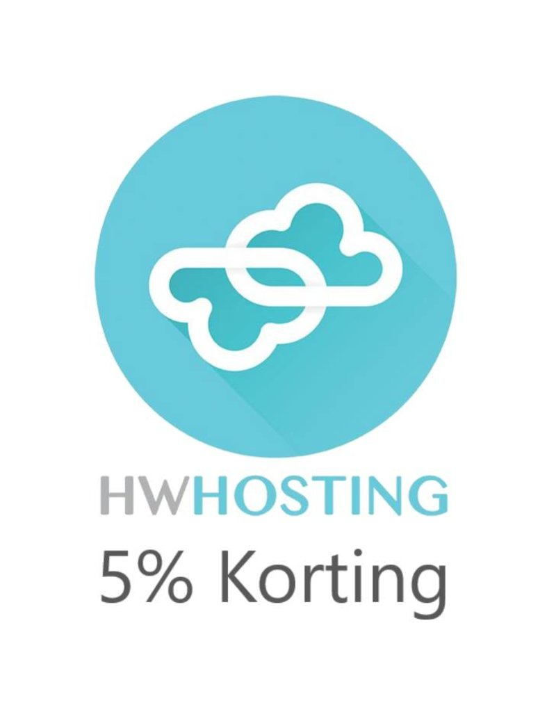 Onbeperkt 5% korting op hosting HW Hosting in Strijen