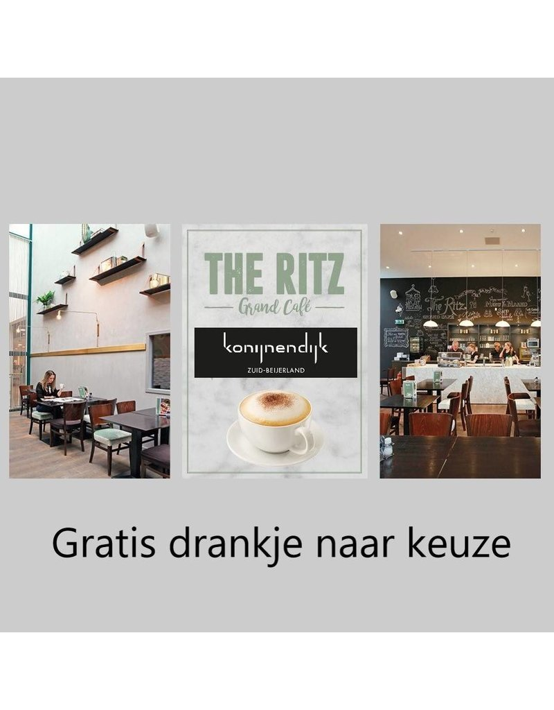 Onbeperkt gratis drankje bij maandmenu bij Konijnendijk Mode (The Ritz) in Zuid Beijerland