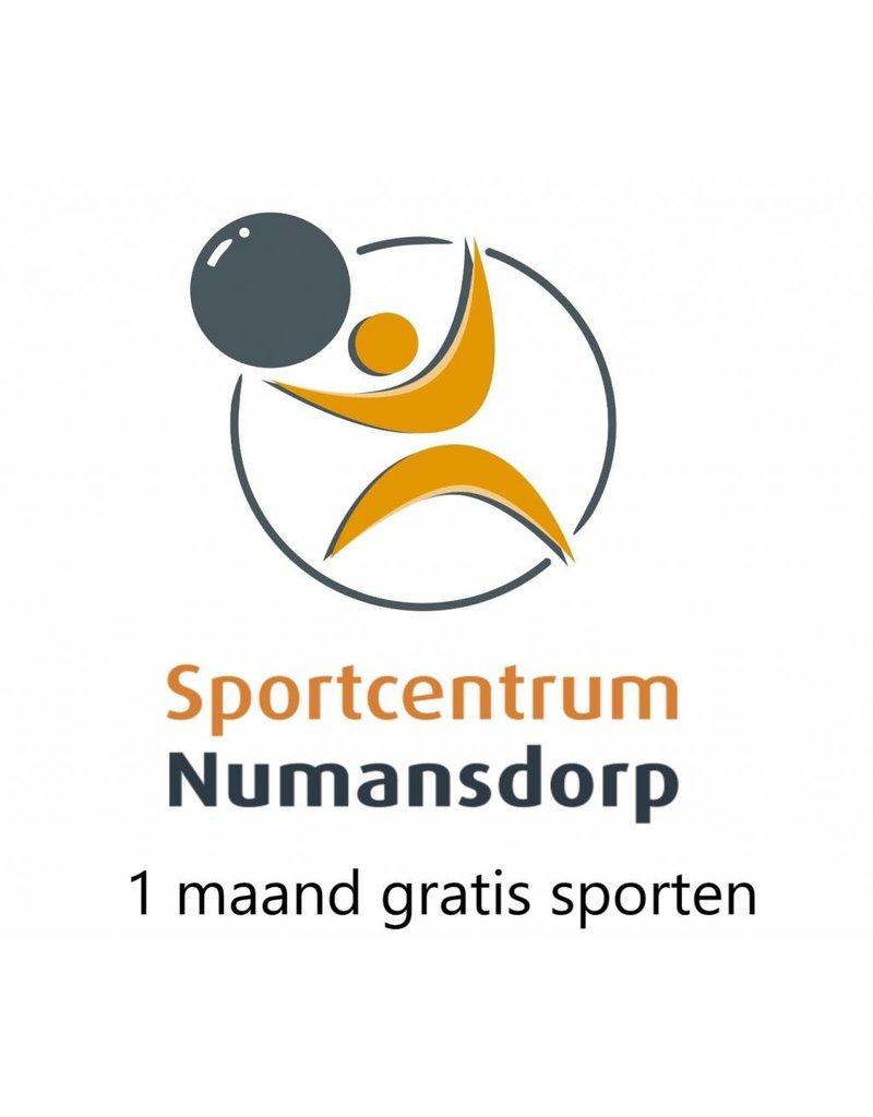 1x 1 maand gratis sporten bij Sportcentrum Numansdorp
