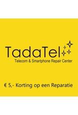 Onbeperkt €5,- korting op een reparatie bij Tadatel in Oud-Beijerland