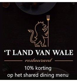Onbeperkt 10% korting op shared dining