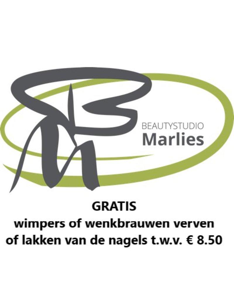 Onbeperkt gratis nagellak of wenkbrauw verven bij Beautystudio Marlies in Nieuw Beijerland