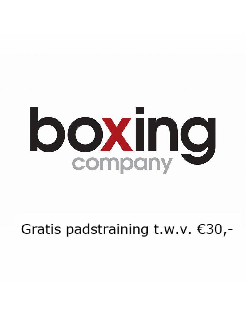 1x gratis padstraining bij Boxing Company in Numansdorp