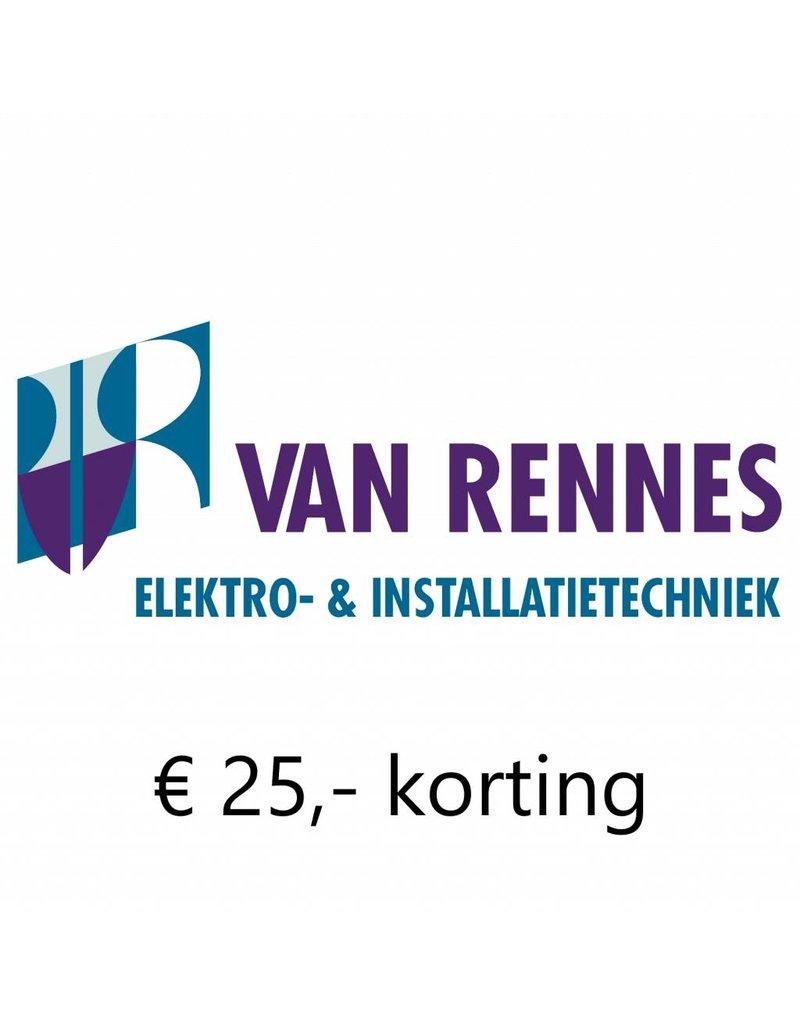 1x €25,- korting op aanschaf van een airco Van Rennes in Klaaswaal