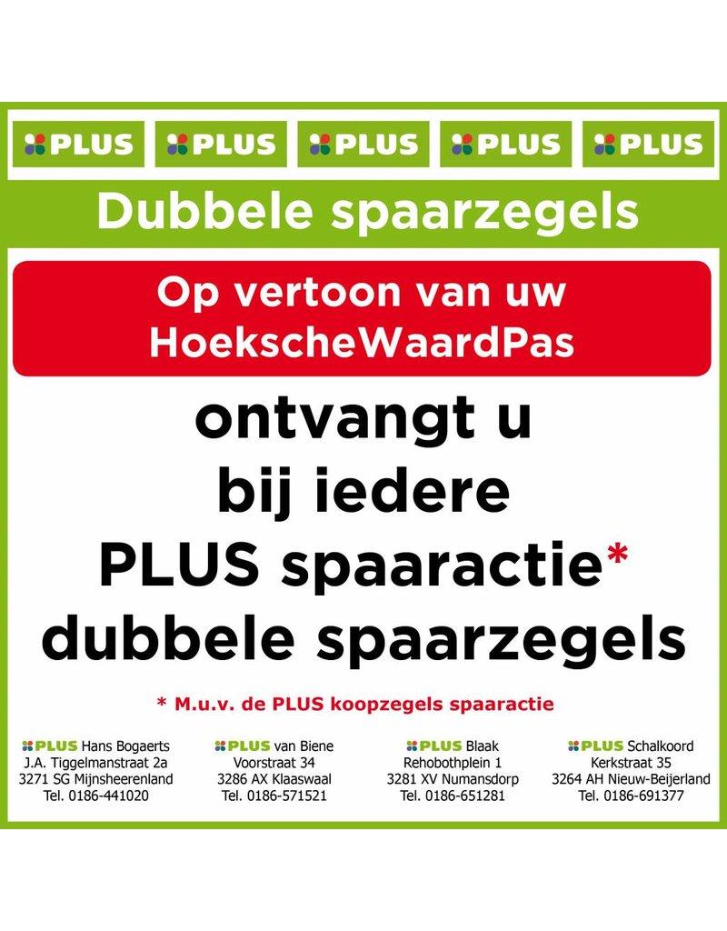 Onbeperkt dubbele spaarzegels bij de vier PLUS supermarkten in de Hoeksche Waard