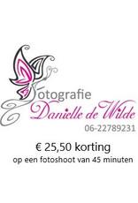 Onbeperkt €25,50 korting op fotoshoot van 45min. bij Fotografie Danielle de Wilde in Numansdorp