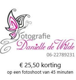 Onbeperkt €25,50 korting op fotoshoot van 45min.