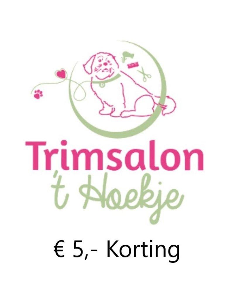 Onbeperkt €5,- korting bij Trimsalon 't Hoekje in Heinenoord