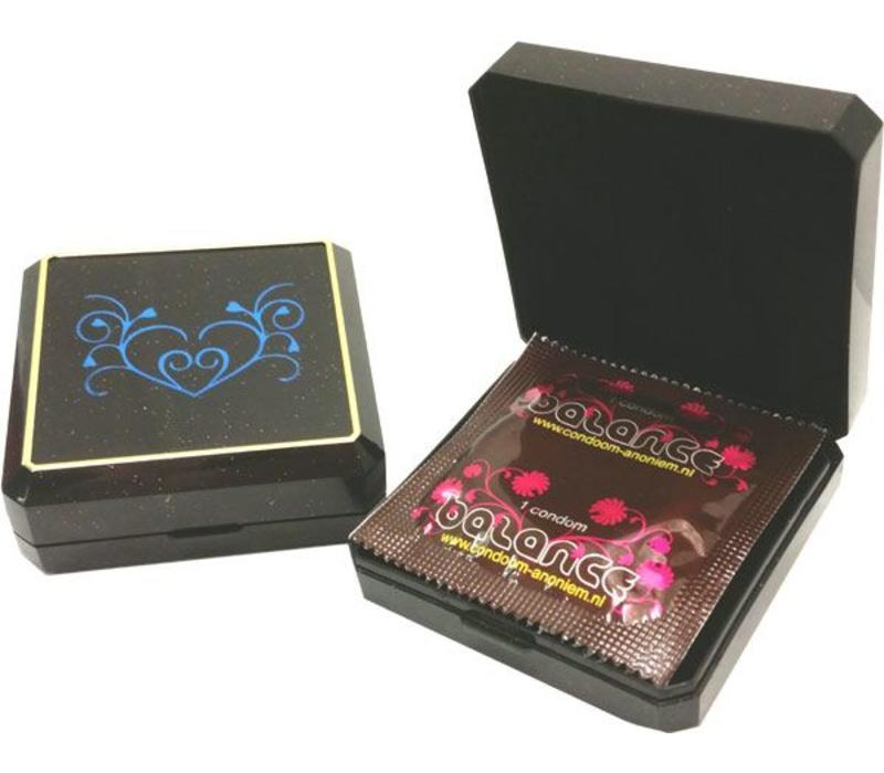 Juwelendoosje met condoom