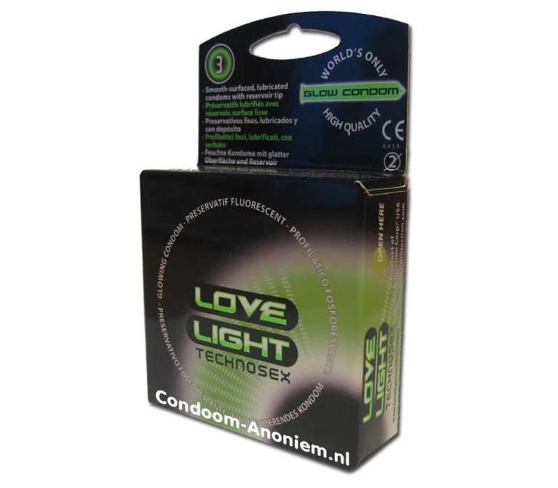 Love Light lichtgevende condooms (doosje 3 stk)