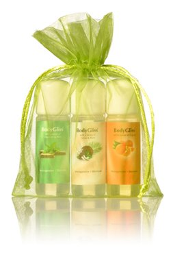 BodyGliss Giftset Groen With A Sense Of Chocolat & Mint, Cocos Rum En Orange
