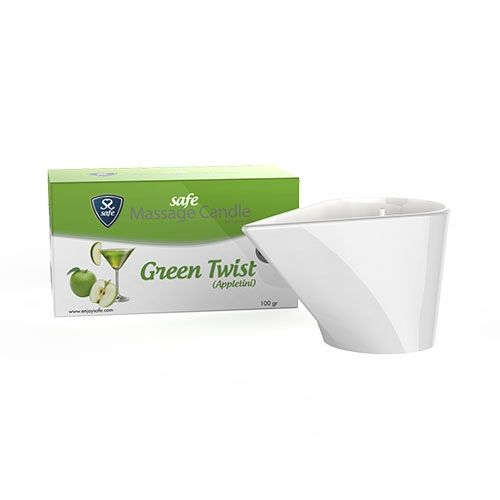Safe Massage Candle Green Twist - Massagekaars Appletini