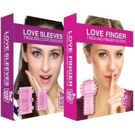 Love In The Pocket AANBIEDING Love Finger Tingling En Love Sleeves - Stimulerende Speeltjes