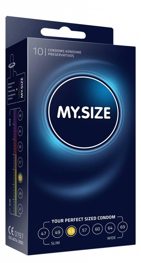 MySize 53 - Gemiddelde Condooms 10 stuks
