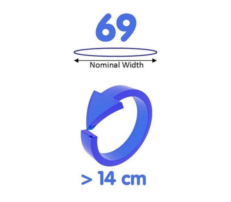 69mm - ruimere XXXL condooms