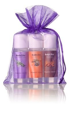 BodyGliss Giftset Paars With A Sense Of Hot Cinnamon, Lavender En Passion