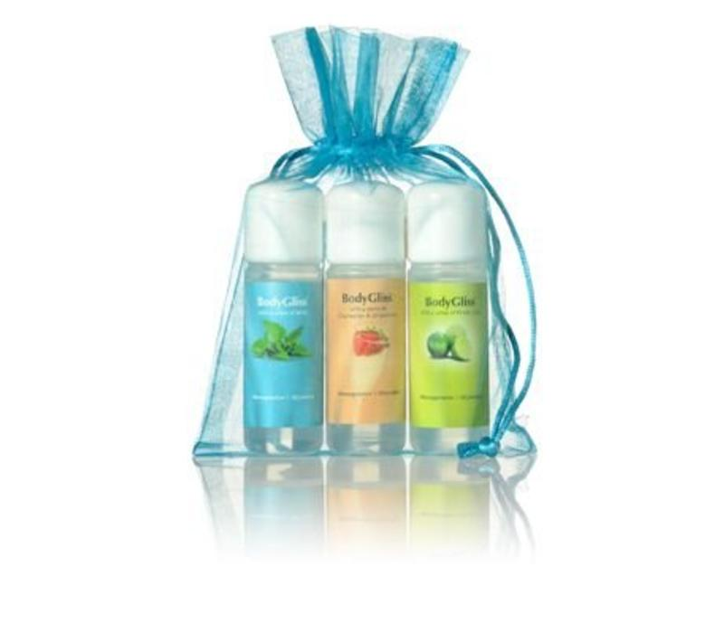 Giftset Blauw with a sense of Fresh Lime, Champaign & Strawberry, Mint