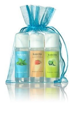 BodyGliss Giftset Blauw With A Sense Of Fresh Lime, Champaign & Strawberry, Mint