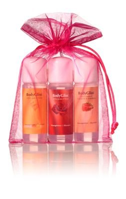 BodyGliss Giftset Roze With A Sense Of Champaign & Strawberry, Roses, Honey