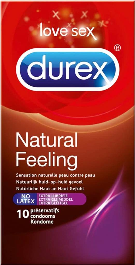 Durex Natural Feeling Latex Vrije Condooms 10 stuks