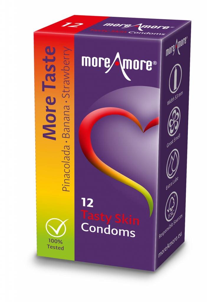 More Amore Tasty Skin Condooms 12 stuks