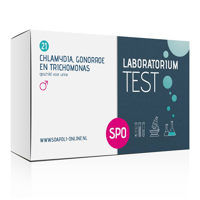 SOApoli Chlamydia, Gonorroe En Trichomonas Test - Professionele Laboratorium Test Test voor urine (m