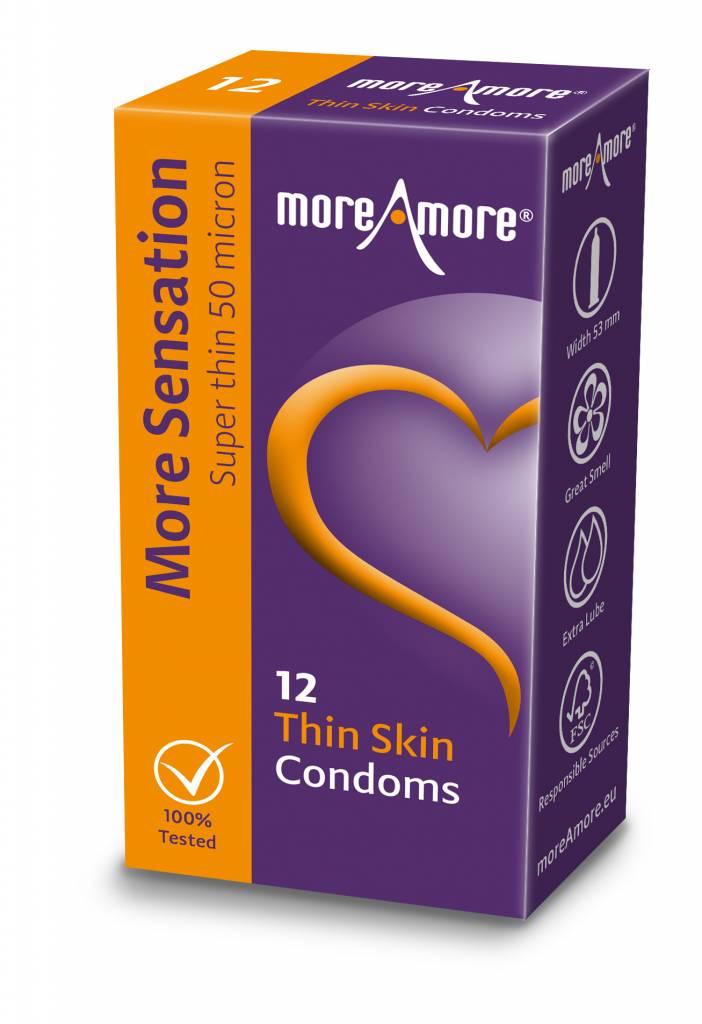 MoreAmore Thin Skin Condooms 12 stuks