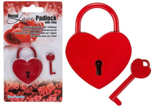 Liefdesslotje of Love Locker - rood