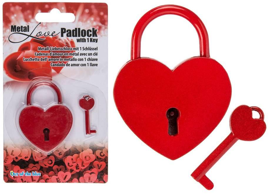 Condoom Anoniem Liefdesslotje In Hartvorm Met Sleuteltje