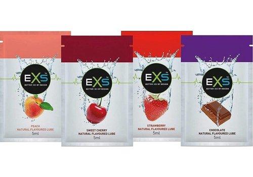 EXS Flavoured lubricant - 4 sachets smaakvol glijmiddel