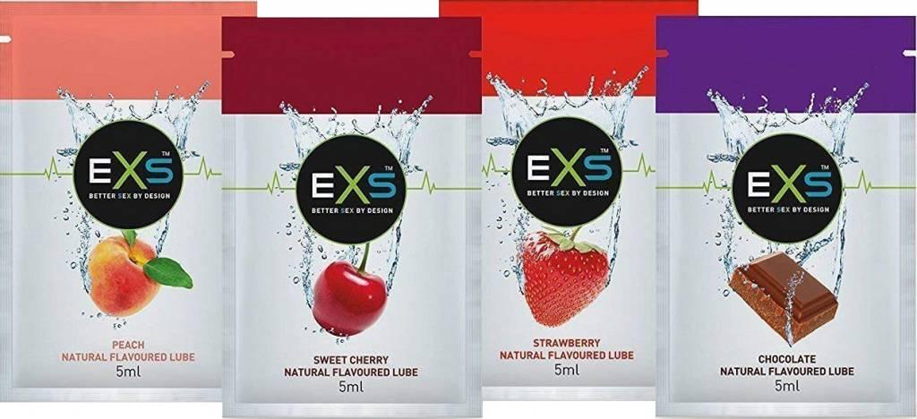 EXS Flavoured Lubricant - 4 Sachets Glijmiddel Met Smaak