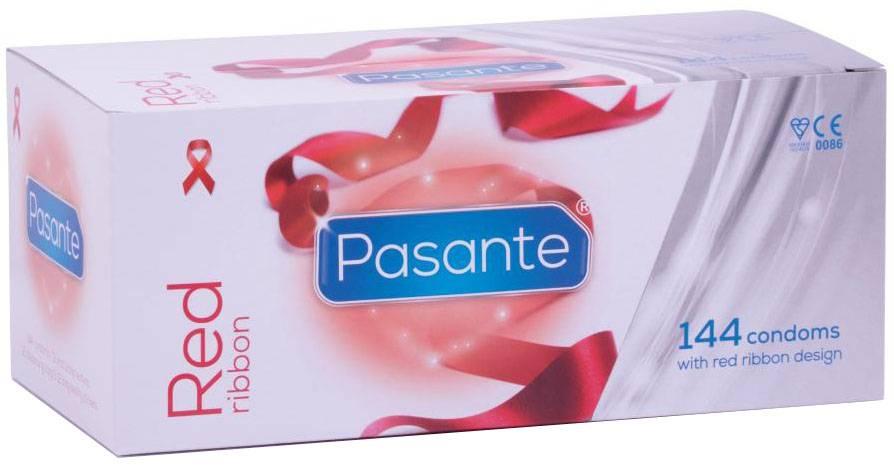 Pasante Red Ribbon Condooms 144 stuks (grootverpakking)