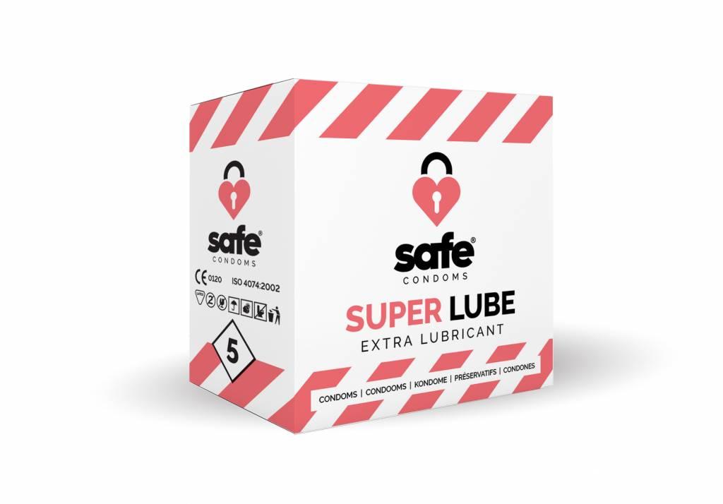 Safe Super Lube Condooms Met Extra Glijmiddel 5 stuks