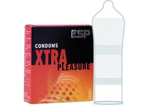 Pasante ESP Xtra Pleasure condooms met ruimere top, ribbels en nopjes